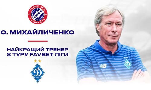 Алексей Михайличенко – лучший тренер 8-го тура УПЛ