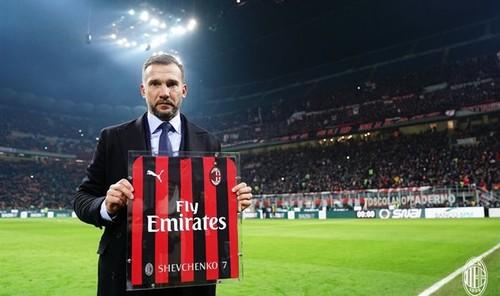Милан поздравил Шевченко с днем рождения