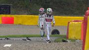 ВИДЕО. Момент дня на Гран-при Бельгии. Авария с оторванным колесом