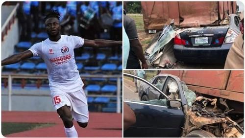 ФОТО. Футболист сборной Нигерии погиб в ужасной автокатастрофе