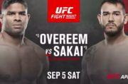 Где смотреть онлайн бой UFC: Алистар Оверим – Аугусто Сакаи