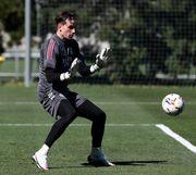 ВИДЕО. Лунин провел первую тренировку в Реале после возвращения из сборной