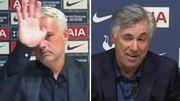 ВІДЕО. Реакція Моуріньо і Анчелотті на результат матчу Тоттенхем – Евертон