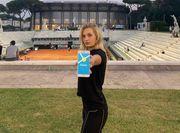 Даяна Ястремская показала приложение для онлайн-бронирования кортов Palms