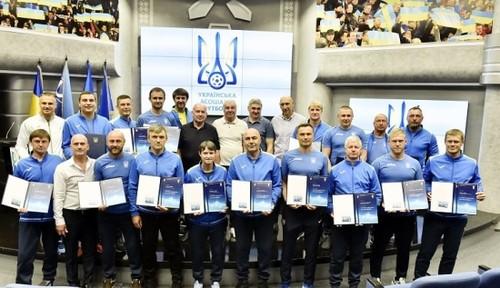 ФОТО. Костышин, Маркевич, Шевчук и другие получили PRO-дипломы УЕФА