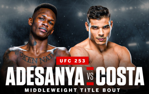 Де дивитися онлайн бій UFC 253: Ісраель Адесанья – Пауло Коста