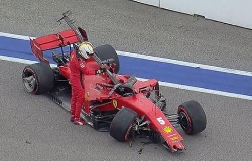 ВІДЕО. Аварія Феттеля в кваліфікації Гран-прі Росії