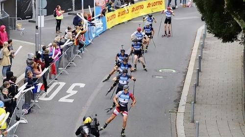 Биатлонная шоу-гонка в Висбадене. Мужской масс-старт. LIVE трансляция