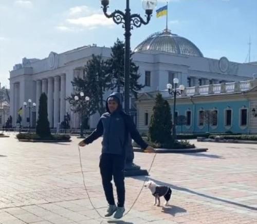ФОТО. Беленюк провів тренування в незвичайному місці