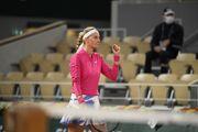 Квитова во второй раз в карьере вышла в 1/4 финала Ролан Гаррос