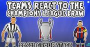 ВИДЕО. Реакция клубов на жеребьевку Лиги чемпионов