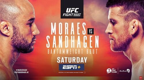 Где смотреть онлайн бой UFC: Марлон Мораес – Кори Сэндхаген