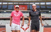 Федерер трогательно поздравил Надаля с выигрышем Ролан Гаррос