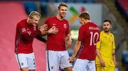 Лига наций B. Норвегия благодаря хет-трику Холанда разгромила Румынию