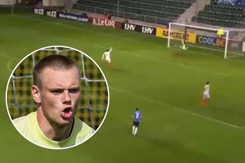 ВИДЕО. Куда убежал вратарь? Как эстонцы забили сами себе гол в Лиге наций