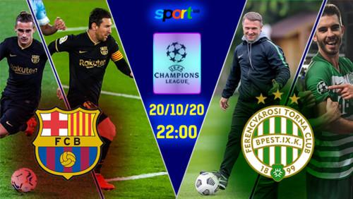 Барселона – Ференцварош – 5:1. Текстовая трансляция матча