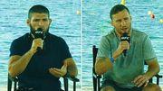 ВІДЕО. Що говорили Хабіб і Гейджі на прес-конференції перед боєм