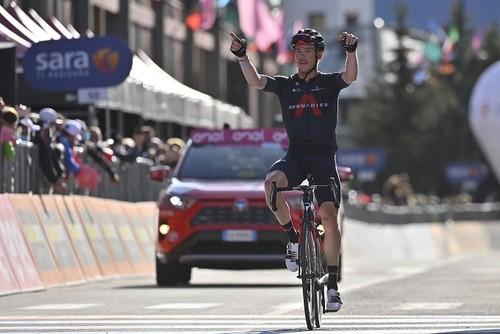 Джиро д'Италия. Харт выиграл 20-й этап, в общем зачете двоевластие