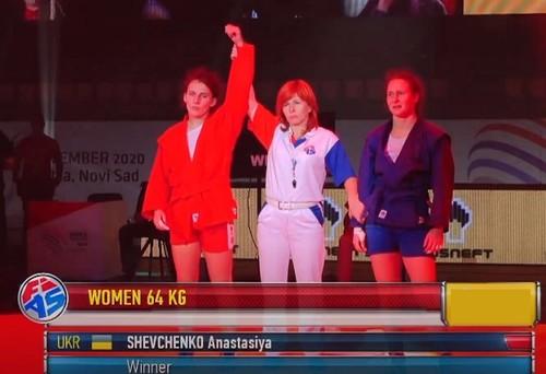 Украина добыла второе «золото» на чемпионате мира по самбо