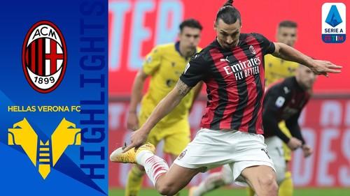 Ибрагимович спас команду. Милан - Верона - 2:2. Видео голов и обзор матча