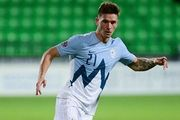 Вербич сыграл за Словению против Азербайджана