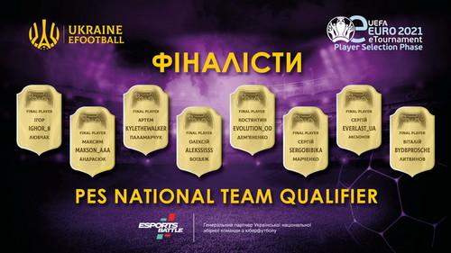 Відомі вісім фіналістів відбору до збірної України з кіберфутболу