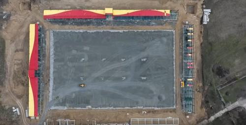 ВИДЕО. Ингулец показал, как идет строительство стадиона