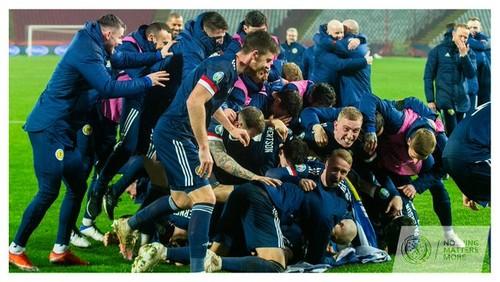 ВИДЕО. Бурная радость сборной Шотландии после выхода на ЕВРО