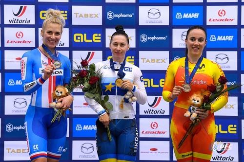 Украинка Старикова – чемпионка Европы по велотреку