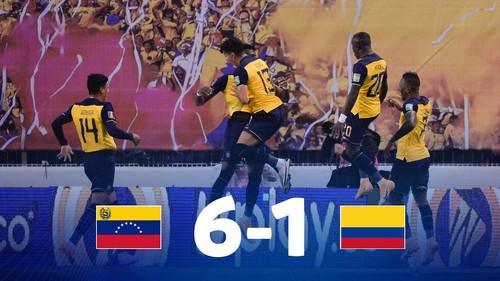 Эквадор – Колумбия – 6:1. Видео голов и обзор матча