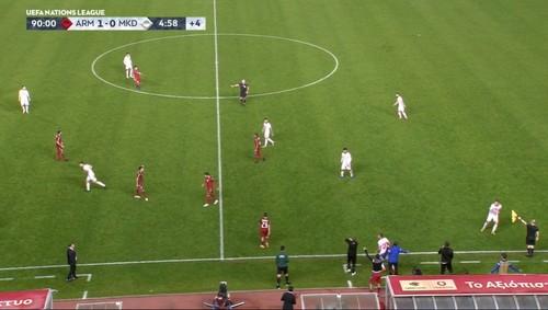 Армения выиграла у Северной Македонии и пробилась в дивизион B Лиги наций