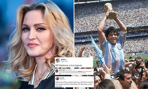 Немного перепутали. В США люди начали прощаться с певицей Мадонной