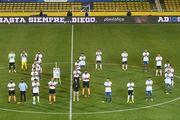 ВИДЕО. Два аргентинских клуба устроили перфоманс в честь Марадоны
