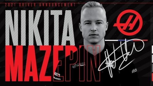 Пилот Никита Мазепин подписал контракт с командой Ф-1 Хаас