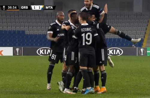 Карабах – Маккаби Тель-Авив – 1:1. Видео голов и обзор матча