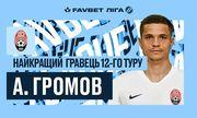 Громов – лучший игрок 12-го тура УПЛ
