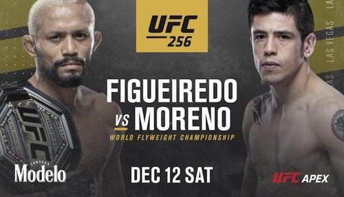 Где смотреть онлайн UFC 256: Дейвисон Фигейреду – Брэндон Морено