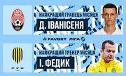 Иванисеня – Игрок месяца в УПЛ, Федык – лучший тренер