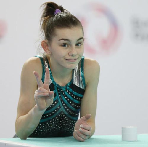 Украинские гимнастки выиграли еще три медали на чемпионате Европы