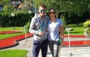 ФОТО. Коли програв в гольф дівчині: біатлоніст Семенов похвалився макіяжем