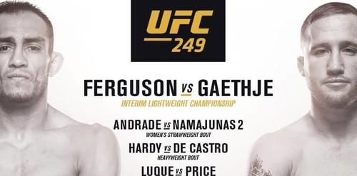 UFC 249. Стал известен весь список участников турнира