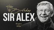 ФОТО. Манчестер Юнайтед поздравил Фергюсона с днем рождения