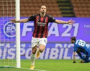 ВИДЕО. Ибрагимович забил яркий гол на тренировке Милана