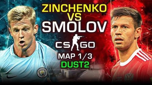 Команда Зинченко и Зубкова уступила российским футболистам в CS:GO