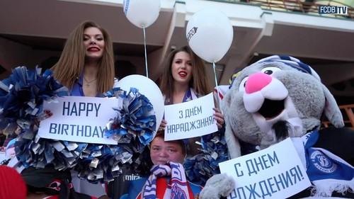 ВИДЕО. Брестское Динамо поздравило виртуального болельщика с днём рождения