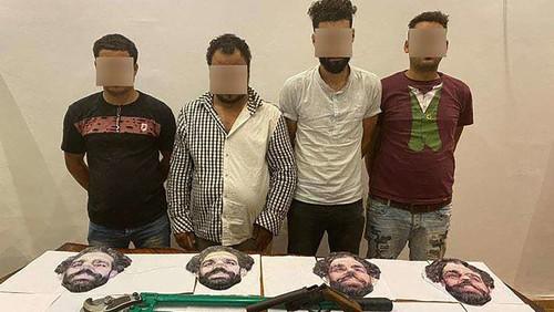 В масках Салаха. Грабители использовали облик футболиста, но были пойманы