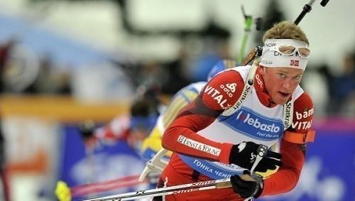 Тарьей Бё выиграл забег на 3000 метров среди биатлонистов сборной Норвегии