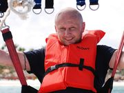ВІДЕО. Екстремальний претендент. Кандидат в президенти УПЛ стрибнув з моста