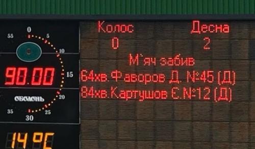 Колос - Десна - 0:2. Відео голів та огляд матчу
