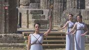 В Греции без зрителей зажгли олимпийский огонь